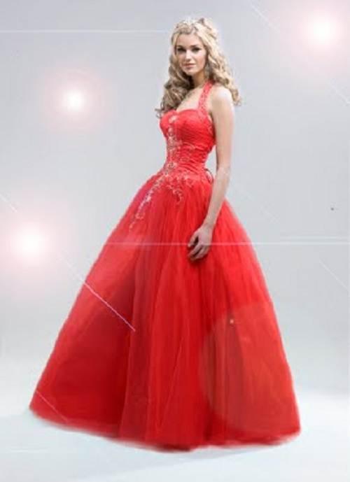 Big Puffy Prom Dresses Red