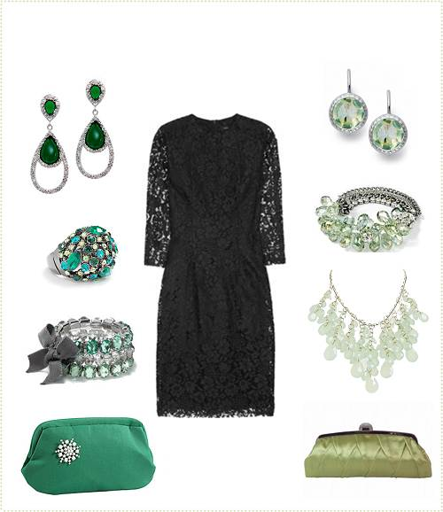 Black Dress Accessories for Wedding