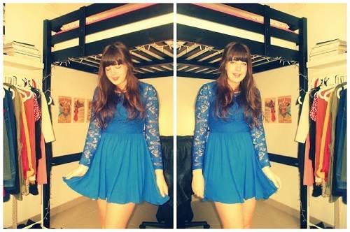 Blue Dress Outfit Lace