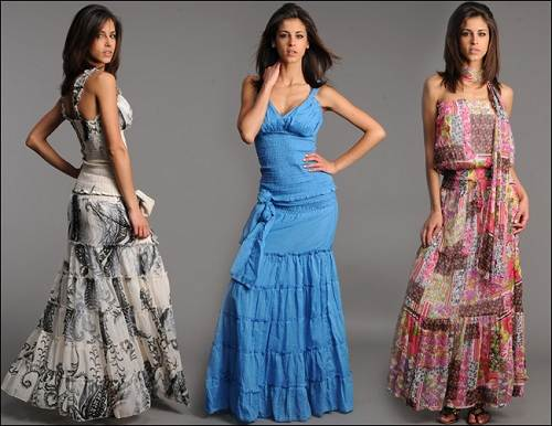 Bohemian Dresses for Girls Pictures