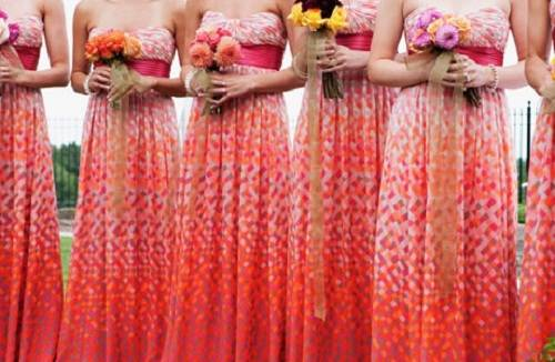 Bridesmaid Dresses Beach Wedding Concept