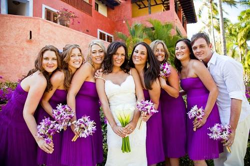 Bridesmaid Dresses Beach Wedding Purple