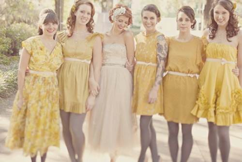 Bridesmaids Vintage Dresses