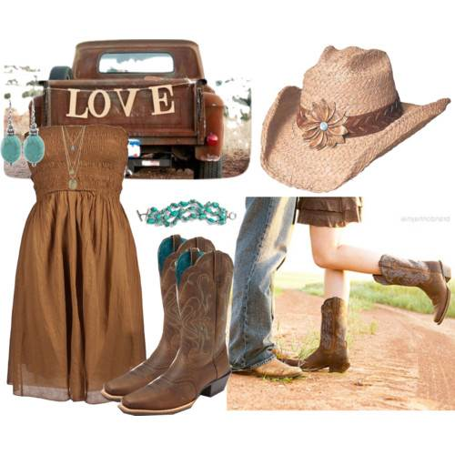 Brown Country Dresses for Women
