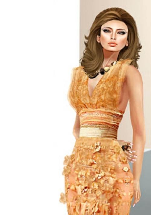 Caramel Mermaid Dresses Picture