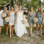 Country Wedding with Gray Dresses 2013