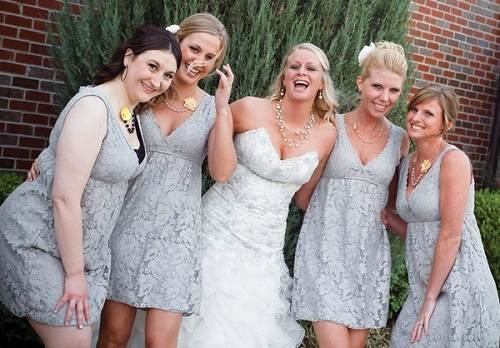 Country Wedding with Gray Dresses Inspiration