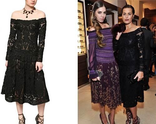Crochet Wool Dresses Black