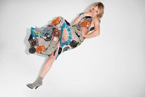 Crochet Wool Dresses Floral