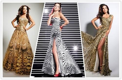 Dresses with Zebra Print 2013