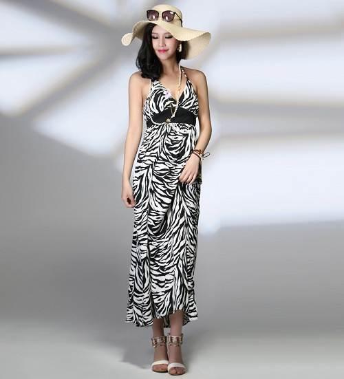 Dresses with Zebra Print Midi