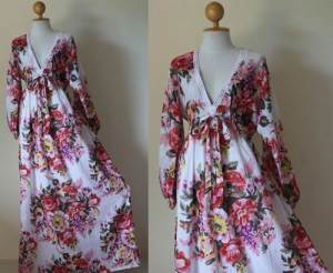 Floral Maxi Long Sleeved Dress Styles