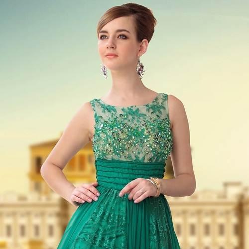 Green Prom Dress 2013