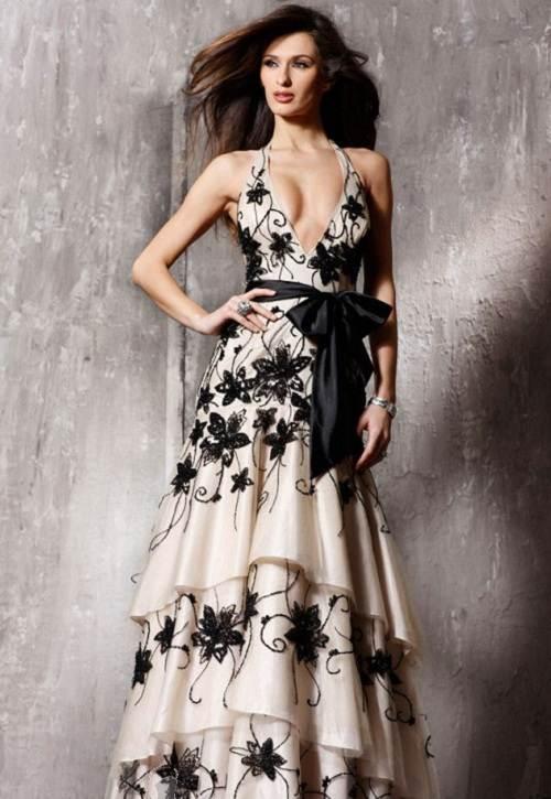 Jovani Long Lace Evening Dresses Romantic
