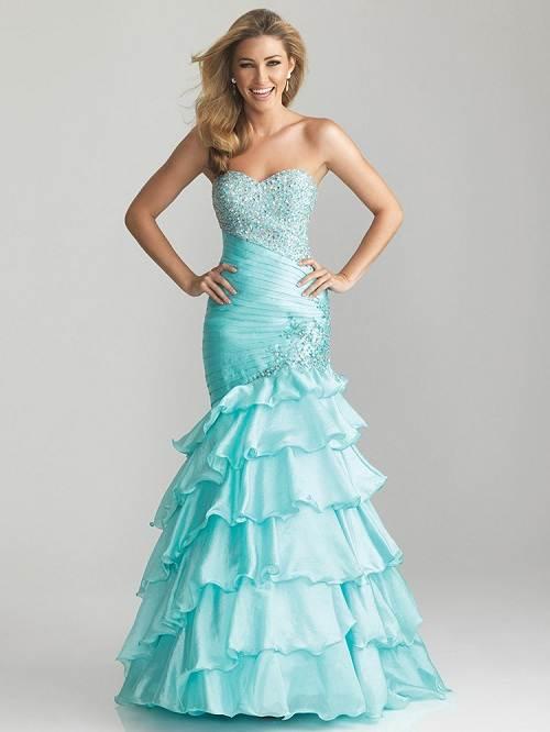 Light Blue Prom Dresses 2013