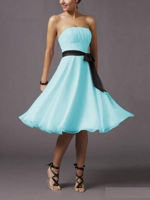 Light Blue Prom Dresses Short