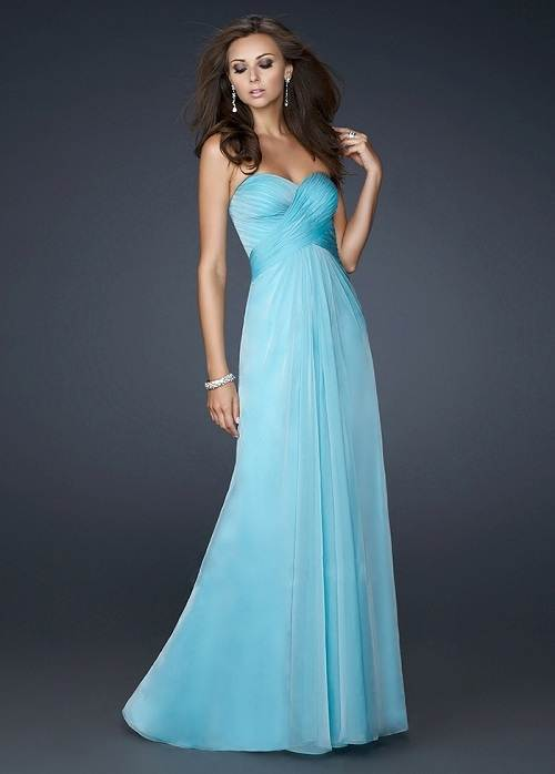 Long Dresses for Prom Blue