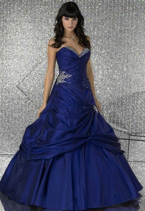 Prom Dress Blue and Purple