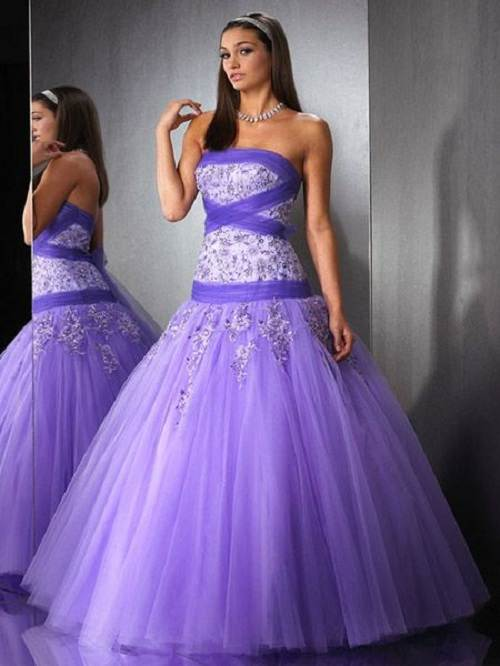Purple Long Prom Dresses UK