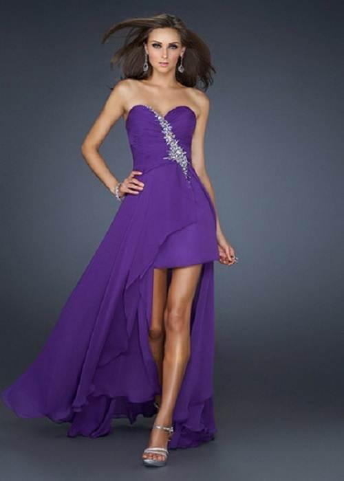 Purple Long Short Dresses Hilo