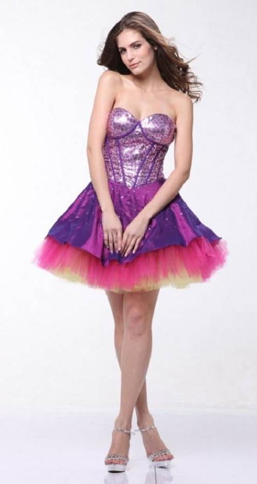 Purple Long Short Dresses Ideas