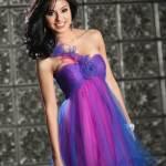 Purple Short Dresses Cheap