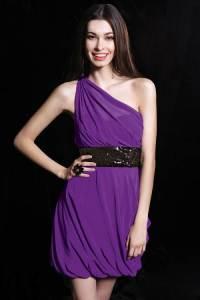 Purple Short Dresses for Juniors