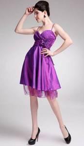 Purple Short Dresses for Kids