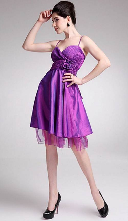 Purple Short Dresses for Kids