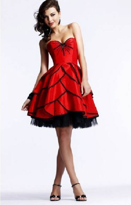 Red Puffy Prom Dresses Designs