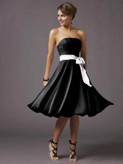 Short Black Dresses Strapless Ideas