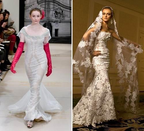 Vera Wang Wedding Dress Lace Mermaid