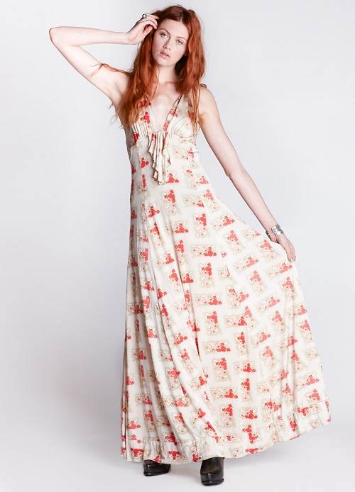 Womens Floral Maxi Dresses Images