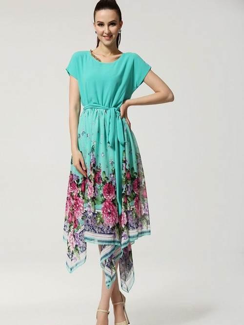 Womens Floral Maxi Dresses Short