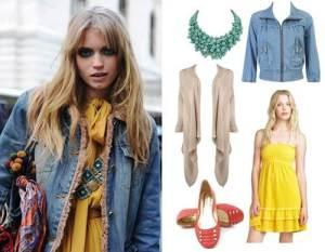 Yellow dress with Jean Jacket Ideas