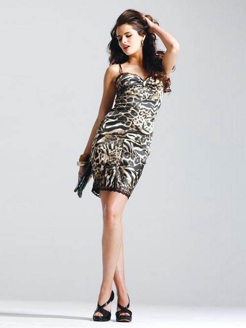 Zebra Print Cocktail Dress Combination