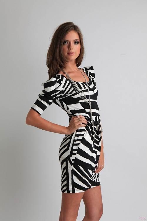 Zebra Print Cocktail Dress Sale