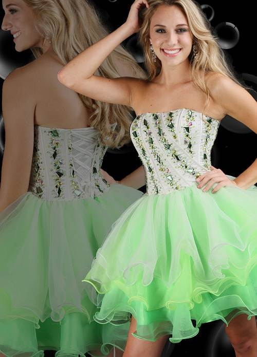 Green Short Prom Dress Ideas Fashion Female