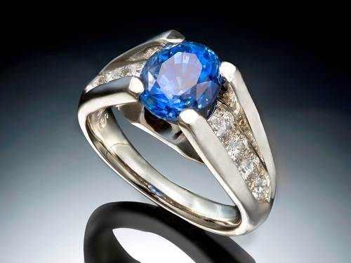 Blue Sapphire Rings for Men Images