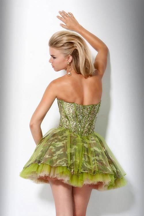 Camo Grad Dresses