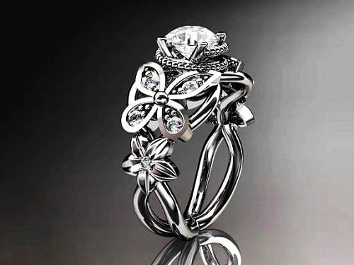Diamond Butterfly Engagement Rings Women Ideas
