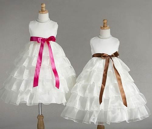 Graduation Dress Elementary White