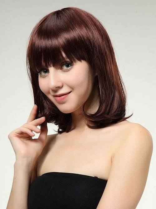 Medium Burgundy Brown Hair Color
