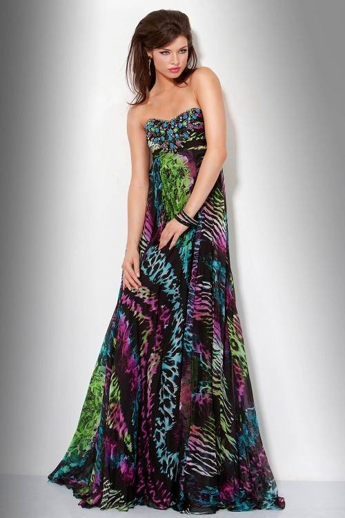 Printed Prom Dress Images