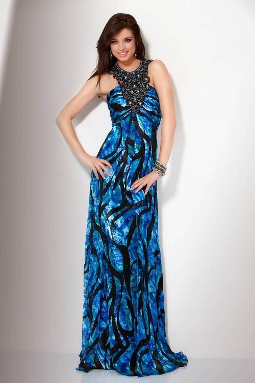 Printed Prom Dress Zebra