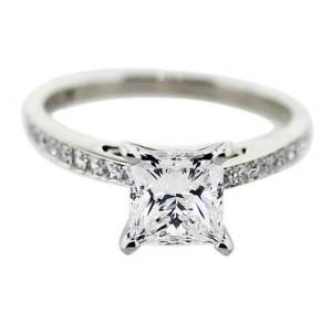 Square Solitaire Engagement Ring 2013