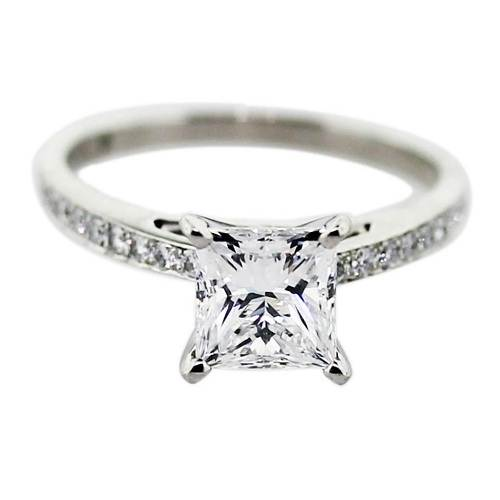 Square Solitaire Engagement Ring 2017