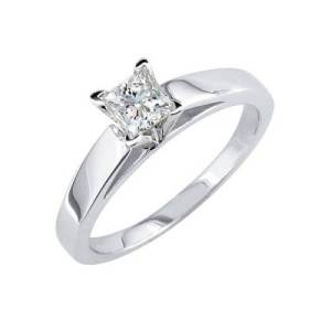 Square Solitaire Engagement Ring Ideas