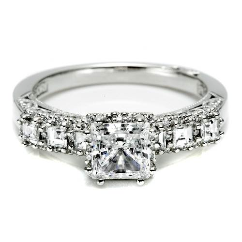 Square Solitaire Engagement Ring Images