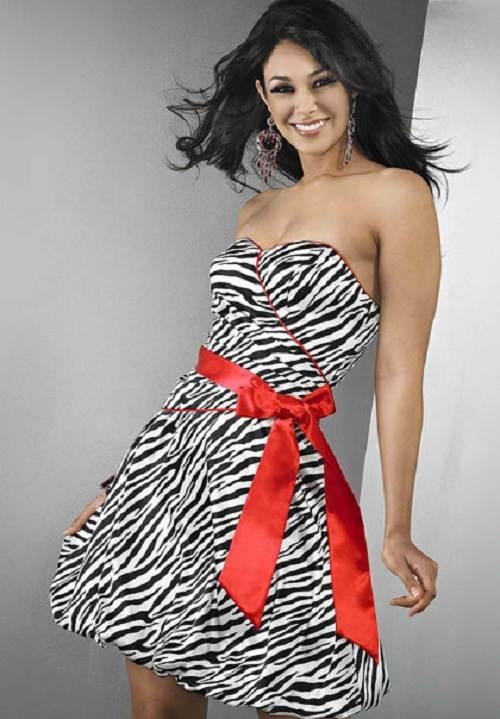 Zebra Prom Dress Designs